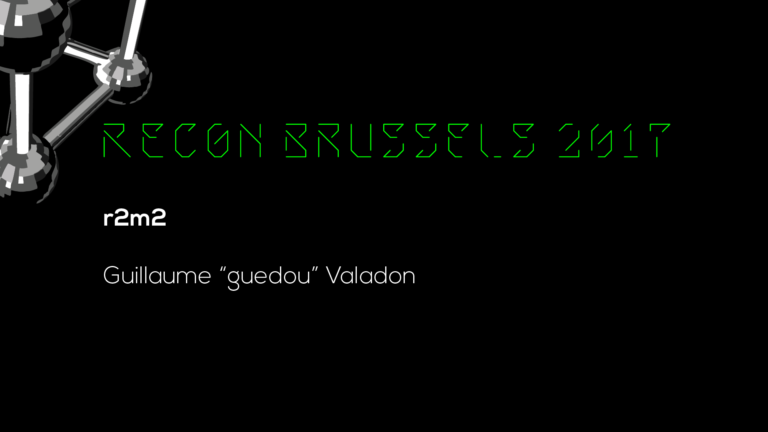 R2M2 - Recon Brussels 2017