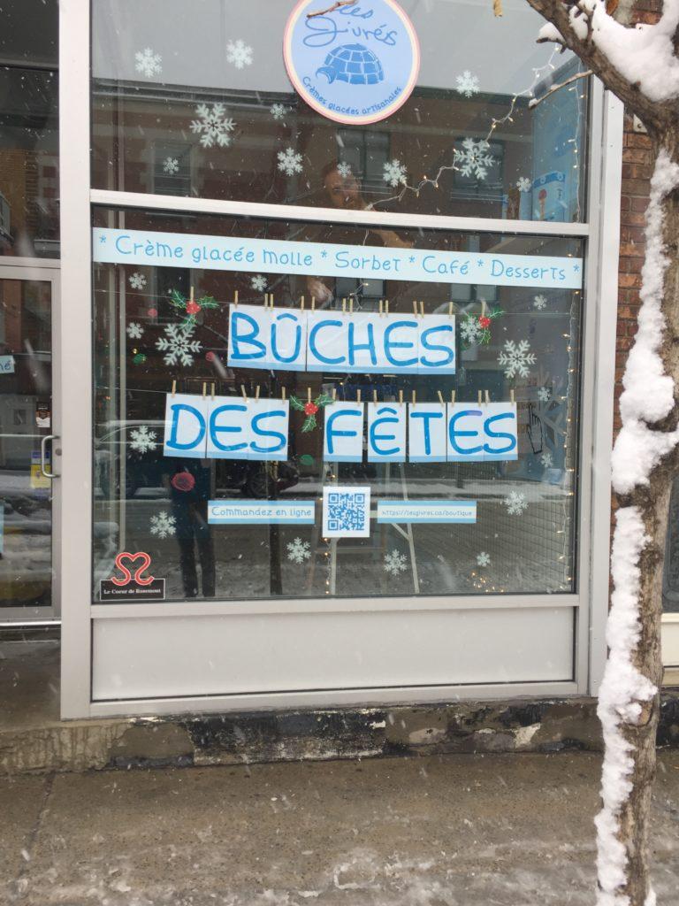 Les givrés, vitrine noël, 2018