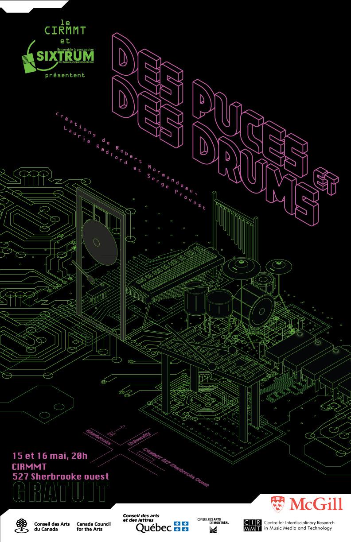 Sixtrum, Affiche Des puces et des drums, 2013