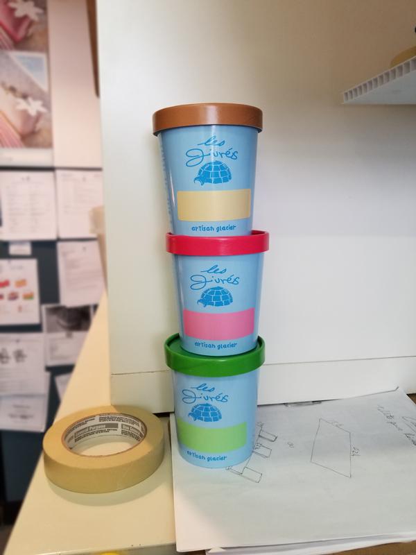 Les givrés, pots de crème glacée, 2016
