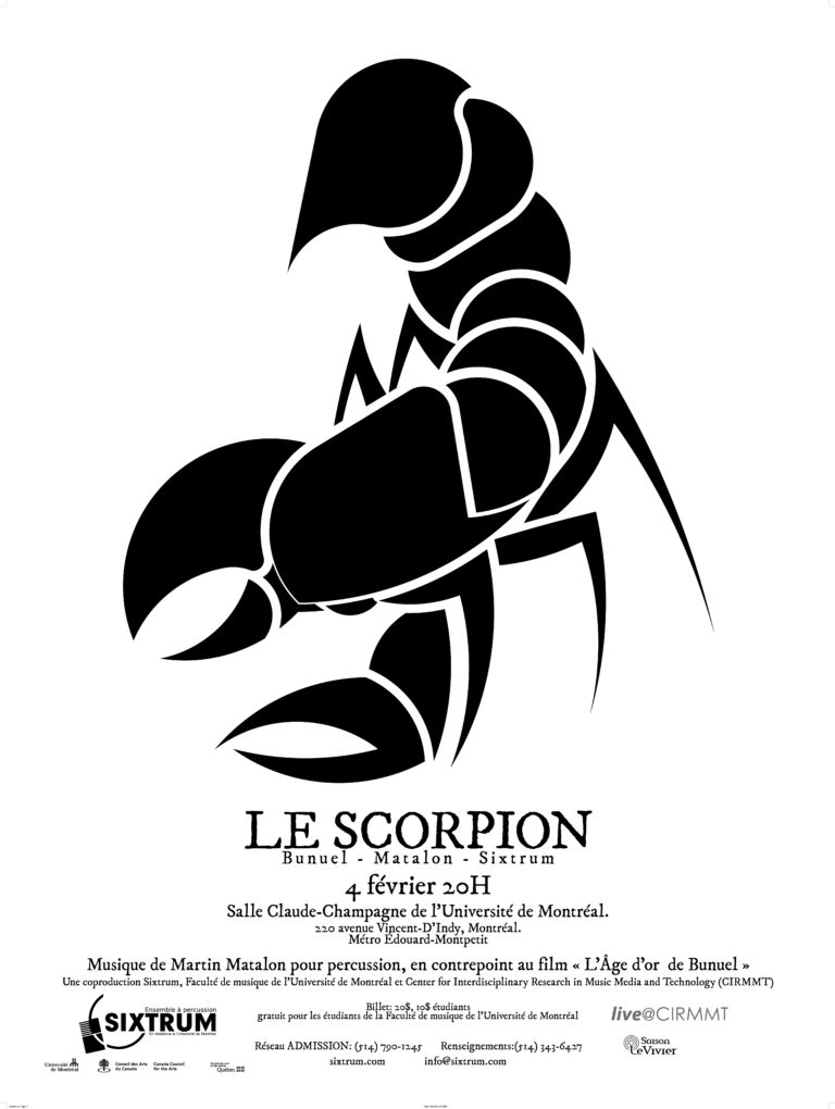 Sixtrum, Affiche Le scorpion, 2010