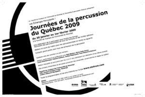 Sixtrum affiche journées de la percussion, 2009