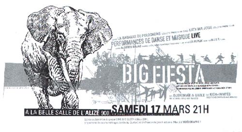 Affiche Big fiesta, 1999.