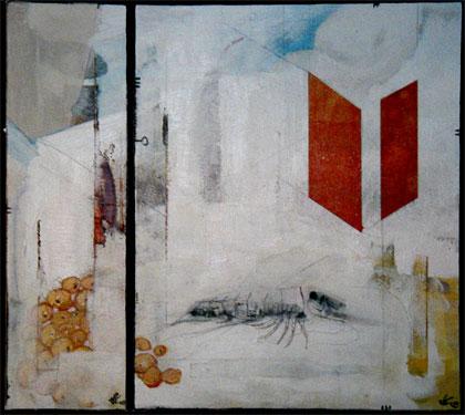 Ebiko, acrylique sur bois, 2003