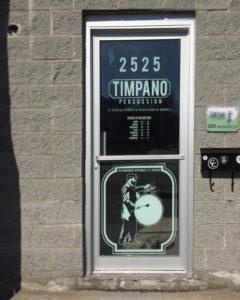 Timpano-percussion, appliqué porte, 2016