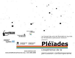 Sixtrum, affiche Pléïades, 2010