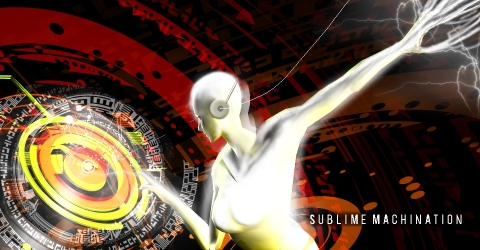 sublime machination. Illustration 3D. 2009